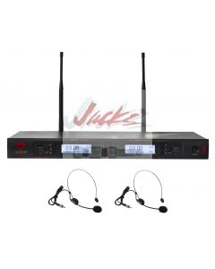Nady 2W-1KU HM-10 Dual True Diversity 1000-Channel Professional UHF Wireless System