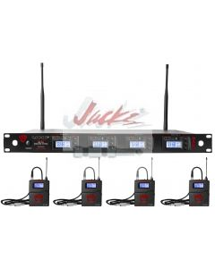 Nady 4W-1KU GT Quad True Diversity 1000-Channel Professional UHF Wireless System