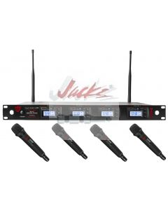 Nady 4W-1KU HT Quad True Diversity 1000-Channel Professional UHF Wireless System