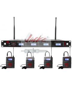 Nady 4W-1KU LT Quad True Diversity 1000-Channel Professional UHF Wireless System
