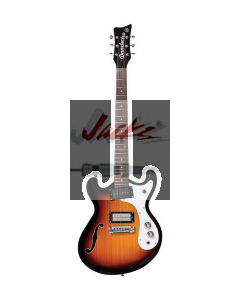 THE '66™ Electric Guitar - 3-Tone Sunburst D66-3TS, Black D66-BLK, Transparent Orange D66-TROR or Transparent Red D66-TRRED