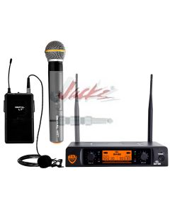 Nady DW-22 Dual Digital Wireless Handheld & Lapel Microphone System