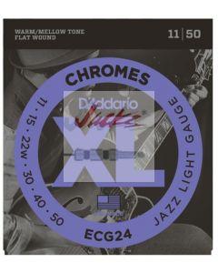 ECG24 Chromes Flat Wound, Jazz Light, 11-50 - 3 sets - $14.13 each