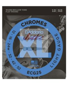 ECG25 Chromes Flat Wound, Light, 12-52 - 3 sets - $14.13 each