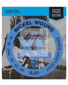 EJ21 Nickel Wound, Jazz Light, 12-52 - 6 sets - $6.13 each