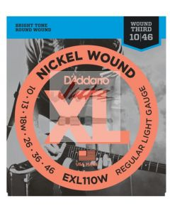 EXL110W Nickel Wound, Regular Light, Wound 3rd, 10-46 - 6 sets - $5.60 each