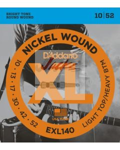 EXL140 Nickel Wound, Light Top/Heavy Bottom, 10-52 - 6 sets - $5.60 each