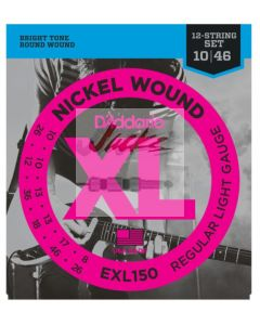 EXL150 Nickel Wound, 12-String, Regular Light, 10-46 - 3 sets - $8.04 each