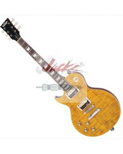 'Paradise' Flamed Amber Left Hand Guitar