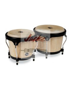 LP® ASPIRE® SERIES BONGOS - Natural Wood/Black LPA601-AW, Dark Wood/Chrome LPA601-DW, Sunburst/Chrome LPA601-SBC, Jamjuree/Black LPA601-SW or Vintage Sunburst/Black LPS601-VSB