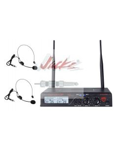 Nady U-2100 Dual HM 200-Channel UHF Wireless Headset Microphone System