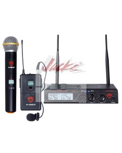 Nady U-2100 Dual HT/LT 200-Channel UHF Wireless Lavalier Microphone System