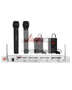Nady U-41 Wireless UHF Handheld & Lapel 4-Channel Microphone System