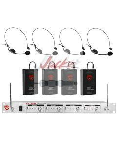 Nady U-41 Wireless UHF Headset 4-Channel Microphone System