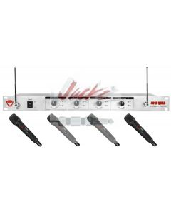Nady U-41 Wireless UHF 4-Channel Handheld Microphone System