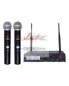 Nady U-2100 Dual HT 200-Channel UHF Wireless Handheld Microphone System
