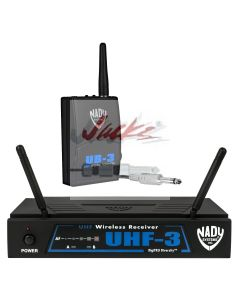 Nady UHF-3 Wireless Instrument / Guitar System with True Diversity