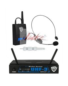 Nady UHF-3 Wireless Headset Microphone System with True Diversity