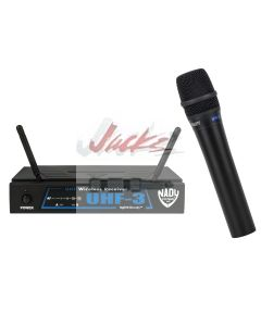 Nady UHF-3 Wireless Handheld Microphone System with True Diversity